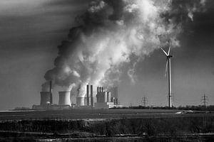 Bruinkool en wind van