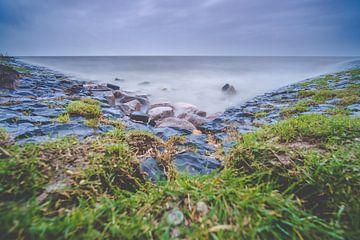 Niederländischer Deich entlang des IJsselmeers von Fotografiecor .nl