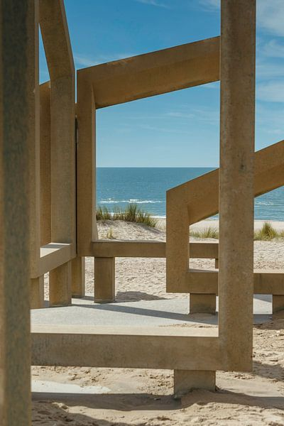 Doorkijkje naar zee van Menno Schaefer