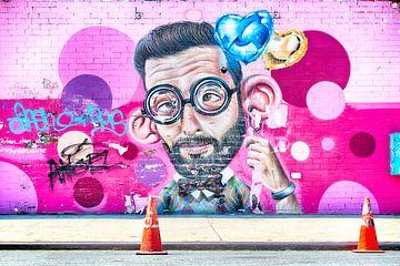 Bunte Wandkunst von Mark Scheffers
