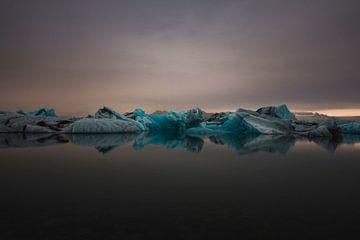 Glacier Lagoon van Maikel Claassen Fotografie