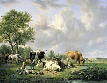 Weide met vee, Jan van Ravenswaay