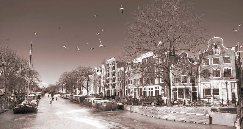 Amsterdam Wintertime van Dalex Photography