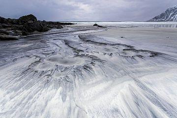 Skagsanden strand op de Lofoten von Antwan Janssen