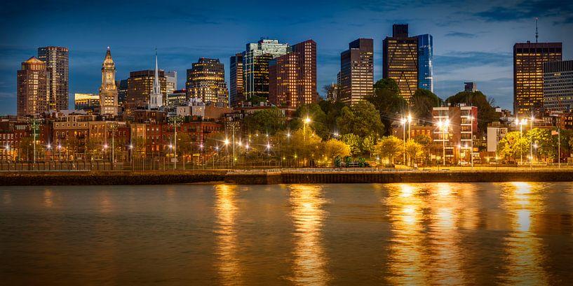 BOSTON Avonds op de Skyline   Panorama van Melanie Viola