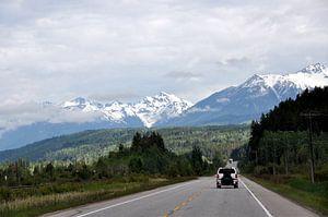 Autoroute in Canadees berggebied van