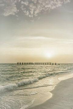 Gasparilla Island Sonnenuntergang | Vintage von Melanie Viola