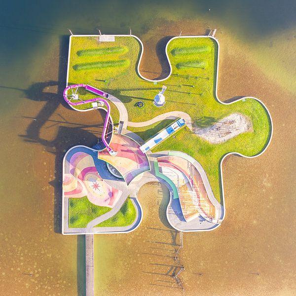 Puzzeleiland Maarsseveense plassen van Jeroen Kleiberg