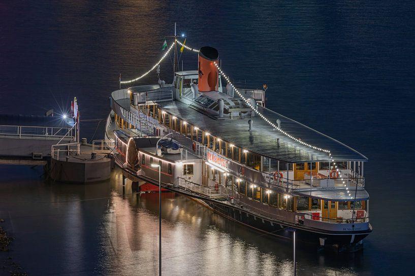 Raderstoomboot De Majesteit in Rotterdam van MS Fotografie | Marc van der Stelt