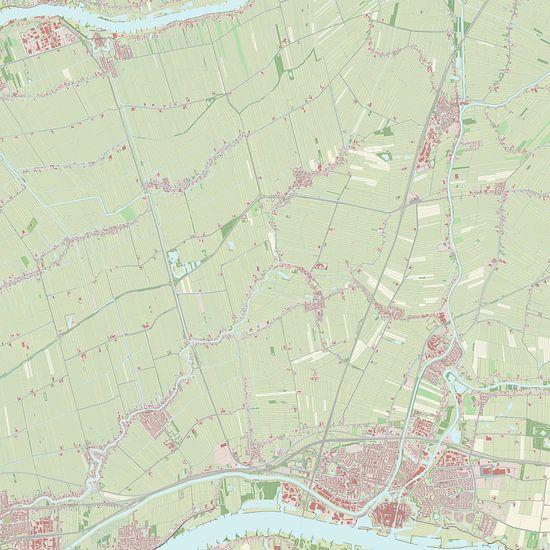 Kaart vanGiessenlanden van Rebel Ontwerp