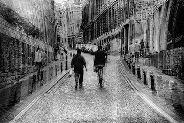 Wandelaars in Brussel van