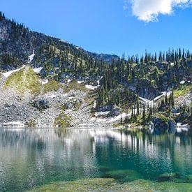 Reflectie in Miller Lake van Manon Verijdt