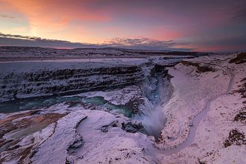 Gulfoss, IJsland van Sven Broeckx