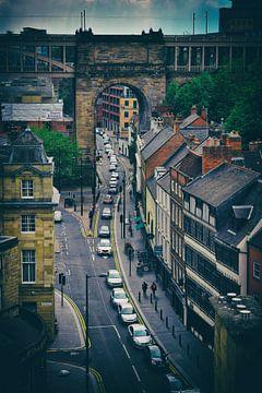 Mittelalterliche Stadtstraße NewCastle, Großbritannien von Corrie Heesbeen
