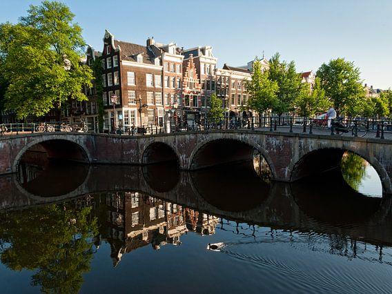 Leidsegrecht en Keizergracht Amsterdam van Tom Elst