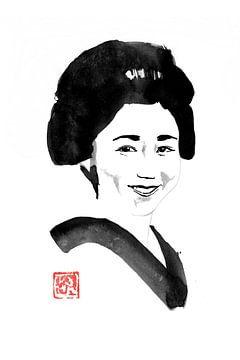 lächelnde japanische Frau von philippe imbert
