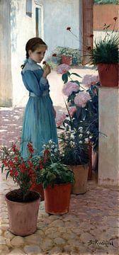 Santiago Rusiñol, Das Mädchen mit der Nelke - 1893 von Atelier Liesjes