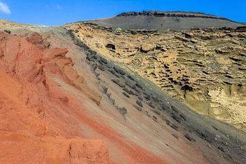 Vulkanlandschaft in verschiedenen Farben auf Lanzarote von Reiner Conrad