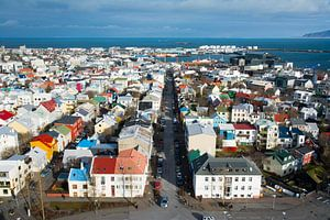 Uitzicht op Reykjavik, IJsland van Lifelicious