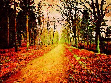 Winsen Luhe - Naturschutzgebiet Hohes Holz - Aquarellmalerei