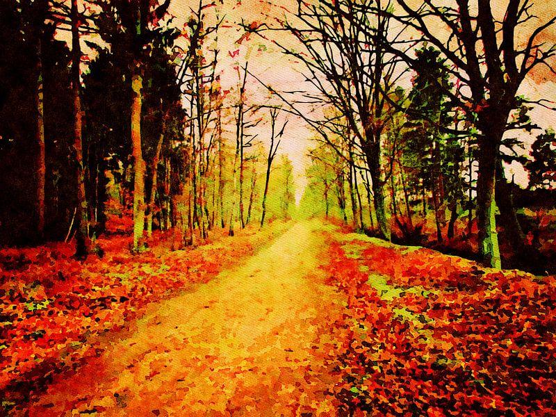 Winsen Luhe - Naturschutzgebiet Hohes Holz - Aquarellmalerei von Patricia Piotrak