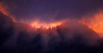 Zonsondergang in de Bergen van Frank Peters