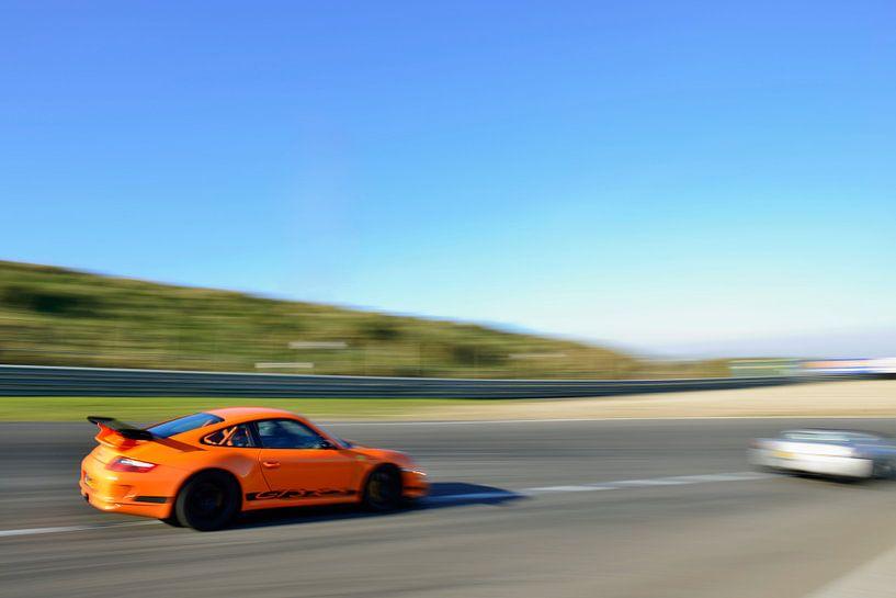 Porsche 911 GT3 RS auf der Rennstrecke in Zandvoort von Sjoerd van der Wal