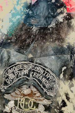 Franse Harley Davidson motorrijder van Anouschka Hendriks