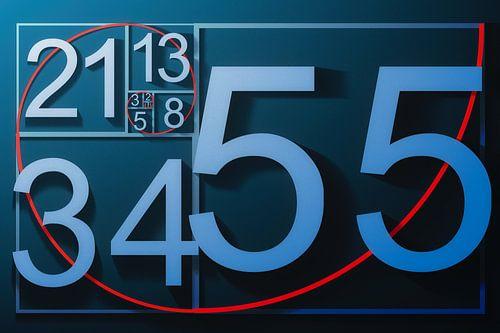 Grafische weergave van de Rij van Fibonacci