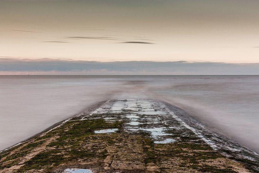 breakwater at the belgian coast van Koen Ceusters