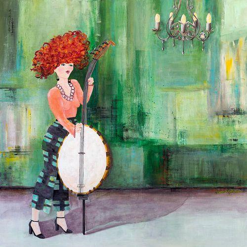 Banjo bass & little bird van Carmen de Bruijn