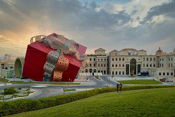 Luxuriöses Einkaufszentrum in Katara kulturellen Dorf in Doha Katar außen Sonnenuntergang Schuss von Mohamed Abdelrazek