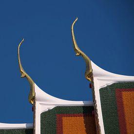 Tempeldak in Bangkok van Peter Baier