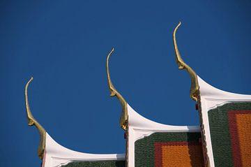 Tempel Dach in Bangkok von Peter Baier