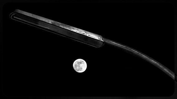 Mond und Laterne