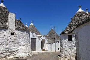 Traditionele trulli huisjes in Alberobello, Apulië