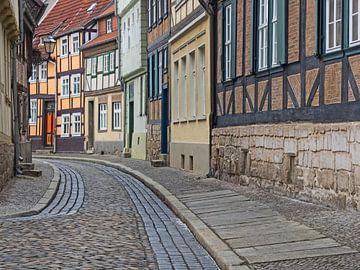 Oude binnenstad van Quedlinburg, Harz gebergte van Katrin May