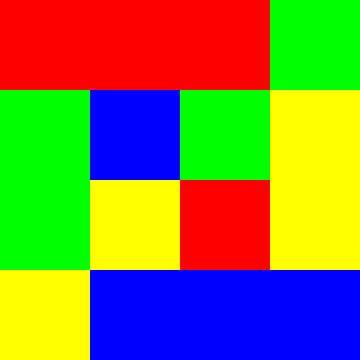 4x4 in 16   vierkanten in het midden   V=084   P #01 van Gerhard Haberern