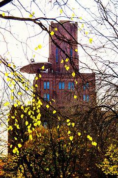 Der Tintenbehälter in Utrecht im Herbst. von De Utrechtse Grachten