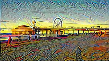 Picasso Pier van Scheveningen von Slimme Kunst.nl