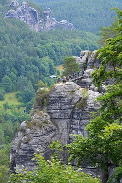 Felsformationen Bastei Sächsische Schweiz Deutschland von My Footprints