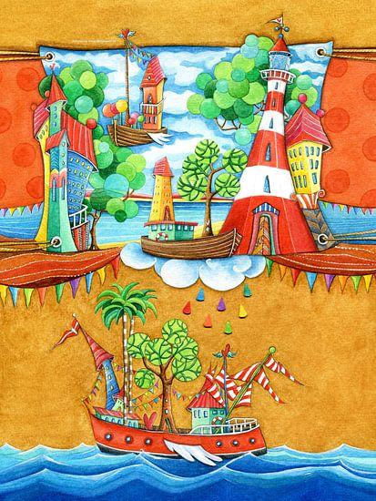 Scheepvaart - Kunst voor Kinderen van  Atelier BuntePunkt
