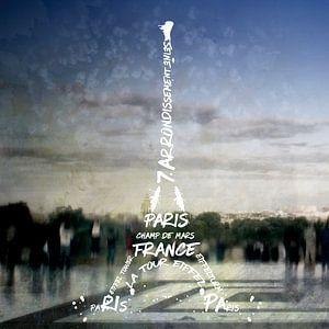 Digital-Art PARIS Eiffel Tower No.4