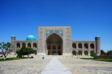 Registan-Platz Samarkand Usbekistan von Yvonne Smits
