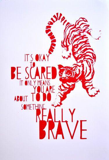 Brave red tiger van Inge Buddingh
