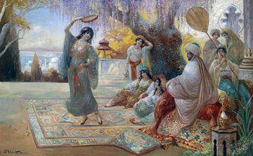 Orientalistische Haremszene, Stephan Sedlacek - um 1900 von Atelier Liesjes