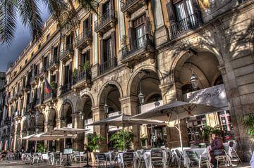 Plaça Reial in Barcelona sur Roel Van Cauwenberghe