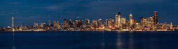 L'horizon de Seattle la nuit sur Kevin Gysenbergs