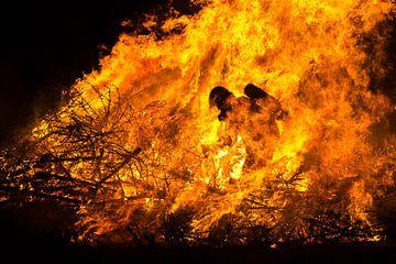 Brandweerman in het vuur