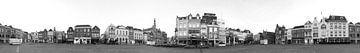 360 Panorama Bossche Markt II Zwart wit van Leo van Valkenburg
